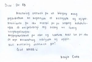 Kenjie Cura letter